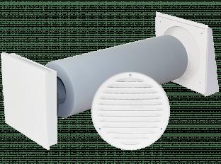 Dezentrale Lüftung SEVi 160ALD – schallgedämmter Außenluftdurchlass