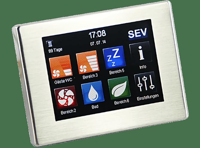 Dezentrale Lüftung Zentralregler SEC-Touch / WEB-APP