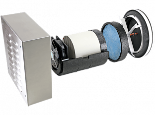 Dezentrale Lüftung SEVi 200L – Wandeinbau ab 200 mm