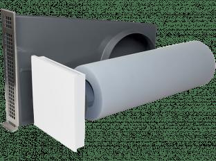 Dezentrale Lüftung SEVi 160ALD – schallgedämmter Außenluftdurchlass – Laibungsversion